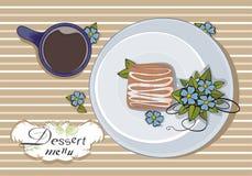 Cubierta del menú del vector Fotos de archivo libres de regalías