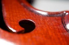Cubierta del violín Fotografía de archivo libre de regalías