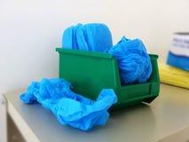 Cubierta del zapato del hospital foto de archivo libre de regalías