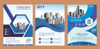 Cubierta, disposición, folleto, revista, catálogo, aviador para la compañía o informe stock de ilustración