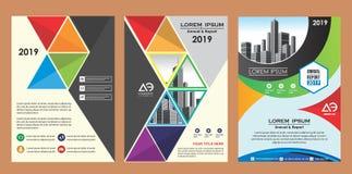 Cubierta, disposición, folleto, revista, catálogo, aviador para la compañía o informe ilustración del vector