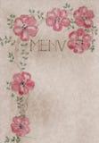 Cubierta drenada mano de la tarjeta del menú de la vendimia, ilustraciones Fotografía de archivo libre de regalías