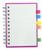 Cubierta en blanco del rosa del cuaderno Imagenes de archivo