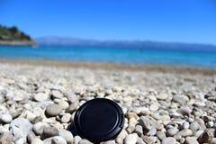 Cubierta en la playa Fotos de archivo libres de regalías