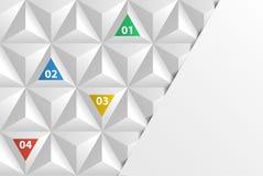 Cubierta geométrica del fondo del triángulo Fotos de archivo