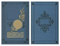 Cubierta hermosa de un libro del vintage con el marco floral una etiqueta en blanco para su texto imagen de archivo