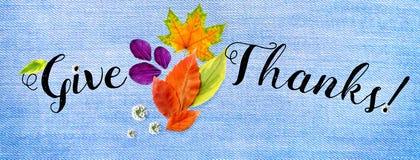 Cubierta horizontal para el sitio feliz de la acción de gracias foto de archivo libre de regalías