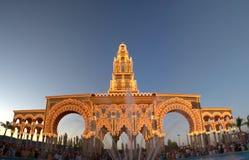 Cubierta justa de Córdoba en la puesta del sol Imagen de archivo libre de regalías