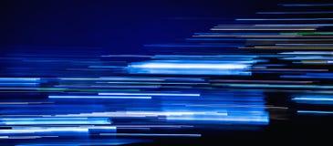 Cubierta ligera azul de la cronología de los rastros fotografía de archivo libre de regalías