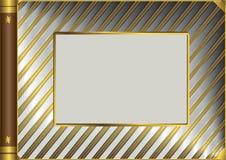 Cubierta metálica del álbum ilustración del vector
