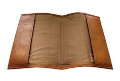 Cubierta movible del cuaderno de cuero Foto de archivo libre de regalías
