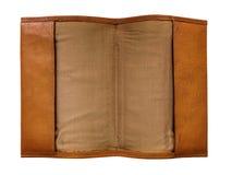 Cubierta movible del cuaderno de cuero Imagen de archivo libre de regalías
