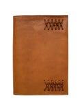 Cubierta movible del cuaderno de cuero Fotografía de archivo libre de regalías