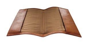 Cubierta movible del cuaderno de cuero Imagenes de archivo