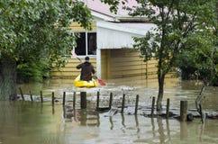 Cubierta Nueva Zelandia de las aguas de inundación Fotografía de archivo
