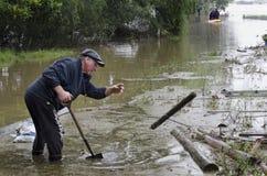Cubierta Nueva Zelandia de las aguas de inundación fotos de archivo