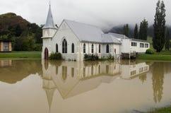 Cubierta Nueva Zelandia de las aguas de inundación Imágenes de archivo libres de regalías