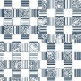 Cubierta o materia textil blanda cuadrada monocromática en estilo del vintage Fotografía de archivo