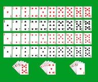 Cubierta parcial de tarjetas que juegan Imagen de archivo