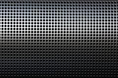 Cubierta protectora de la rejilla mertal negra de la precisión Foto de archivo