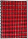 Cubierta roja del cuaderno Fotografía de archivo libre de regalías