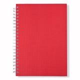 Cubierta roja del cuaderno cercano Fotos de archivo