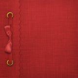 Cubierta roja para un álbum Imágenes de archivo libres de regalías