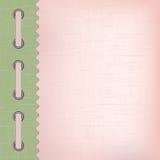 Cubierta rosada para un álbum con las fotos Imagenes de archivo
