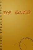 Cubierta secretísima del documento Imagenes de archivo