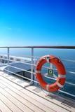 cubierta Sun-remojada de Queen Mary 2 Imágenes de archivo libres de regalías