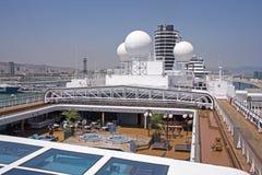 Cubierta superior de un barco de cruceros Fotografía de archivo libre de regalías