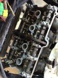 Cubierta superior de un motor de la motocicleta Imagenes de archivo