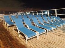 Cubierta superior del solarium del barco de cruceros de Costa Favolosa foto de archivo