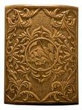 Cubierta tallada de madera del pecho Foto de archivo libre de regalías