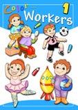 Cubierta - trabajadores 1 del color Foto de archivo