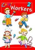 Cubierta - trabajadores 2 del color Foto de archivo libre de regalías