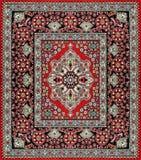 Cubierta tradicional de la alfombra stock de ilustración