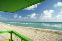 Cubierta verde de Miami Beach Imágenes de archivo libres de regalías