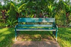 Parque del banco Fotografía de archivo