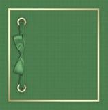 Cubierta verde para un álbum con las fotos Imagenes de archivo