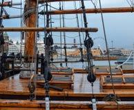Cubierta vieja de la nave Imagen de archivo libre de regalías