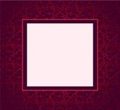 Cubierta violeta del ornamento del diseño Foto de archivo libre de regalías