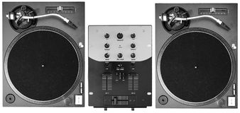 Cubiertas de DJ imagen de archivo