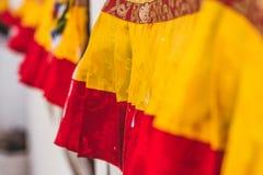 Cubiertas de la bandera del rezo imagen de archivo libre de regalías
