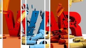 Cubiertas de la guerra y de la cáscara Imagen de archivo libre de regalías