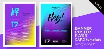 Cubiertas de la música electrónica para el aviador del partido del Fest o del club del verano ilustración del vector