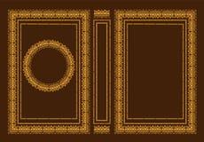 Cubiertas de libro clásicas del vector Marco antiguo decorativo o marco para imprimir en las cubiertas de libro Es dibujado por e Imagenes de archivo