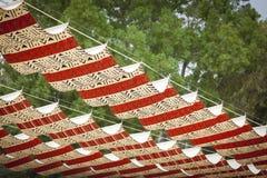 Cubiertas decorativas del patio del paño Foto de archivo