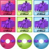 Cubiertas del disco de Chillout Fotografía de archivo