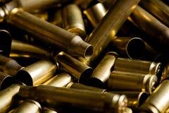 Cubiertas gastadas de la munición Fotografía de archivo libre de regalías